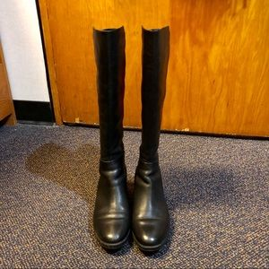 Tory Burch 7.5 Black Leather Tall Boots